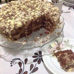 Torta montanha: chocolate...muito chocolate!