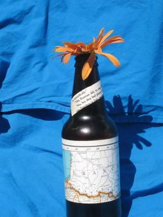 Hemingway Brown Bottle.  An upcycled bottle by UponASunnyDay, $8.00