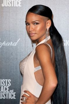 Super Long #Ponytail #Cassie #Celebs