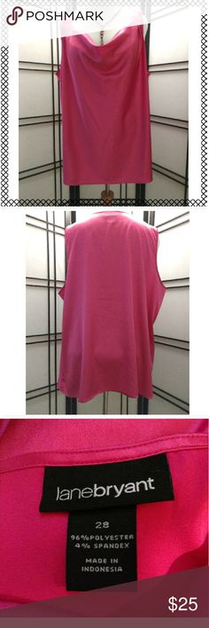 Lane Bryant Hot Pink Top Lane Bryant hot pink top. Top is silky and just really beautiful. Worn twice. Lane Bryant Tops