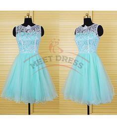 Charming Homecoming Dresses,Organza Homecoming Dress,Short Homecoming Dress,Lace Homecoming Dress,O-Neck Homecoming Dress
