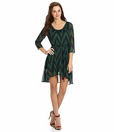 Freeway Chevron Woven HiLow Dress #Dillards