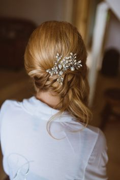 Laid Back Summer Garden Party Wedding in Stretch Tents Bridal Hair Updo, Bridal Hair And Makeup, Bride Makeup, Party Hairstyles, Bride Hairstyles, Wedding Groom, Wedding Attire, Back Garden Wedding, Summer Garden