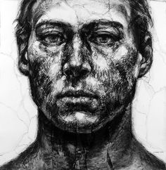 Depression And Obsession Chords Code: 8344821930 Contrast Art, Depression Art, Monochromatic Art, Pen Art, Pencil Portrait, Figure Drawing, Art Inspo, Printmaking, Painting Portraits