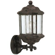 Sea Gull Lighting Die Cast Aluminum One Light Outdoor Wall Lantern