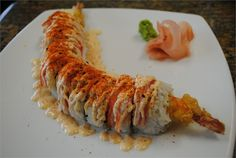 Shaggy Dog Roll Photo credit Natasha& Kitchen Ingredients Sushi Rice 4 T Rice Vinegar 2 T sugar 2 tsp salt 2 cups Japane. Sushi Roll Recipes, Cooked Sushi Recipes, Asian Recipes, Healthy Recipes, My Sushi, Sushi Party, Good Food, Yummy Food, Japanese Food