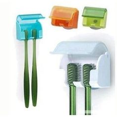 covered toothbrush holders - mount to inside of trailer bathroom cabinet