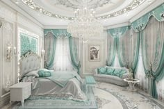 Villa in Abu Dhabi Luxury Living Room, Room Design, Luxury Living Room Design, Royal Bedroom, Luxury Bedroom Decor, Mansion Interior, Luxurious Bedrooms, Girl Bedroom Decor, Luxury Mansions Interior