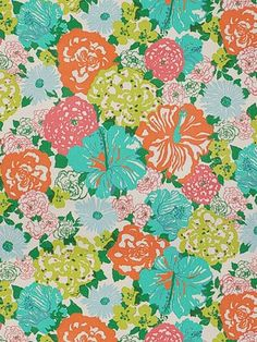 DecoratorsBest - Detail1 - LJ 2011106-512 - HERITAGE FLORAL AQUA/ORANGE - Fabrics - DecoratorsBest
