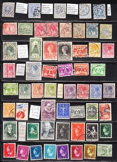 Eladásra felkínált holland bélyegeim egy berakólapnyi: 56 db, 27,40 EUR Michel Catalog Value, 1872-1940. évekből.