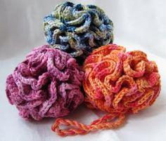 Crochet Bath Puff - Tutorial ༺✿Teresa Restegui http://www.pinterest.com/teretegui/✿༻