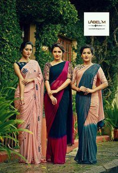 Simple sarees, elegant blouses Indian Sarees Click visit link above to read Simple Sarees, Trendy Sarees, Fancy Sarees, Indian Attire, Indian Ethnic Wear, Ethnic Style, Indian Style, Saris, Indian Dresses