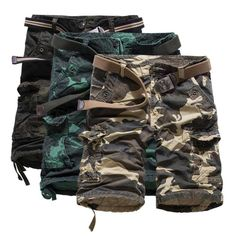 2016 summer new men five pants loose overalls camouflage cotton men straight no stretch