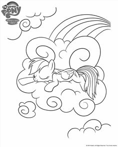 Coloring book My Little Pony: Rainbow Dash over Ponyville ...