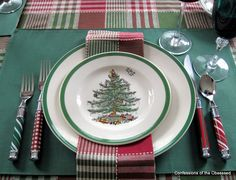 "One ""look"" with Spode Christmas Tree"