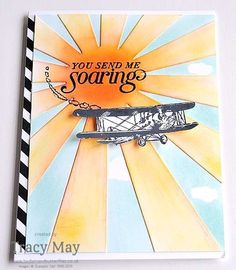 Sky Is the Limit from Stampin' Up! Tracy May Sunburst Thinlits Sale-a-bration