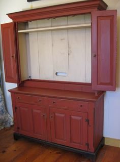 Behind My Red Door Just For Fun Part 3 Rustic Country Furnitureprimitive Decorcountry Primitivetv Cupboardtv