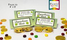 Leprechaun Bait St Patricks Day Treat Bag Toppers -