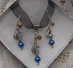Harry Potter  Raven Claw necklace & Earring by paulandninascrafts, $12.99