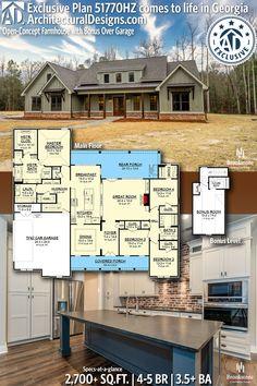 Family House Plans, New House Plans, Dream House Plans, House Floor Plans, My Dream Home, French Country House Plans, Modern Farmhouse Plans, American Houses, House 2