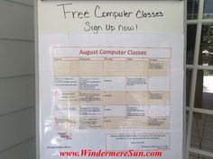 Free Computer Classes available at Windermere Library (and much much more)...details at Windermere Sun at http://windermeresun.com/2014/08/04/free-computer-classes-jiggleman-paws-to-read-book-bingo-caring-for-your-pet-at-windermere-library/