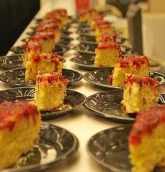 Cranberry Cornmeal Upside Down Cake by Savannah's Chef Darin