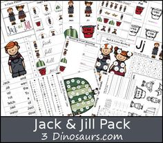 Free Jack & Jill Pack - over 45 pages of activities for ages 2 to 9 - 3Dinosaurs.com