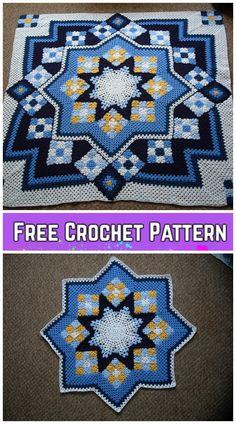 Transcendent Crochet a Solid Granny Square Ideas. Inconceivable Crochet a Solid Granny Square Ideas. Crochet Quilt Pattern, Granny Square Crochet Pattern, Crochet Squares, Crochet Blanket Patterns, Baby Knitting Patterns, Crochet Crafts, Crochet Yarn, Crochet Projects, Free Crochet