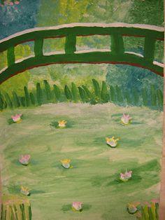 WHAT'S HAPPENING IN THE ART ROOM??: 5th Grade Monet Garden