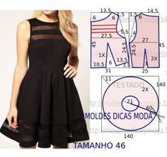 Mod@ en Line@ Fashion Sewing, Diy Fashion, Ideias Fashion, Diy Clothing, Sewing Clothes, Dress Sewing Patterns, Clothing Patterns, Costura Fashion, Diy Dress