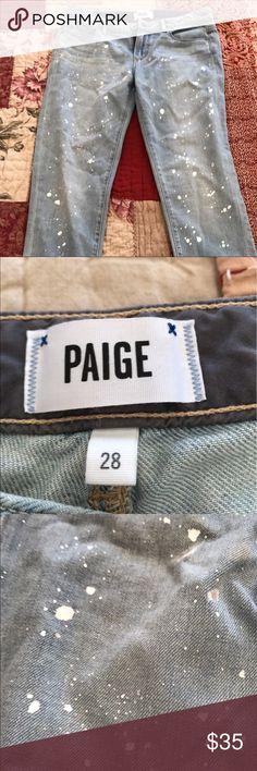 Paige paint splatter jeans size 28 NWOT Paige paint splatter jeans size 28. Paige Jeans Jeans Skinny