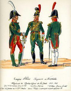 Comandante di squadrone e capitani del rgt. cavalleggeri della guardia del regno di Westfalia