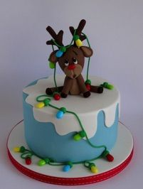 Rudy – Sweet Christmas Cake # Christmas Cake – Famous Last Words Christmas Themed Cake, Christmas Cake Designs, Christmas Cupcakes Decoration, Christmas Cake Topper, Holiday Cakes, Christmas Desserts, Christmas Treats, Christmas Cakes, Xmas Cakes