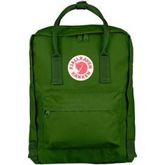 Fjallraven Kanken Classic Backpack (1.365 ARS) ❤ liked on Polyvore featuring bags, backpacks, leaf green, rucksack bags, backpack bags, fjallraven rucksack, day pack backpack and leaf bags