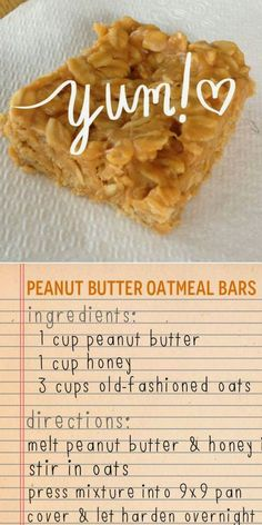 Country Chic in North Idaho: Peanut Butter Oatmeal Bars
