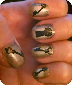skeleton key nail art  cutesville: September 2011