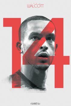 The Gunners - Theo Walcott. Football Ads, Football Design, Arsenal Players, Arsenal Fc, Theo Walcott, Soccer Art, Sports Graphic Design, Man Of The Match, Fernando Torres