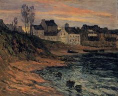 The Athenaeum - Twilight, Winter, Douarnenez (Maxime Maufra - )