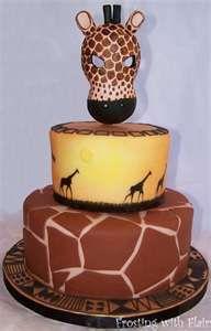 cool giraffe birthday cake, minus the top. Kinda creepy..