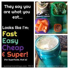 21 Day Fix Lunch Idea:  Vanilla Shakeology, cantaloupe, kale, flaxseeds, water, ice, bend.  www.facebook.com/summermarmingo