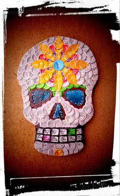 Dios de los muertos skull bottle cap art Check us out on Facebook/ madcapcreations