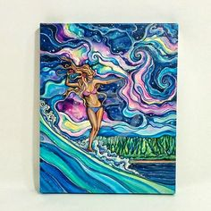Cosmic Surf Giclee (Canvas Print) – Colleen Wilcox Art