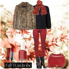 """""""Fall Red"""" by a093178 on Polyvore"""