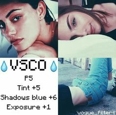 P5 +5 Tint +5 Shadows Blue +6 Exposure +1