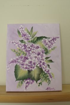 Acrylic painting of lilacs