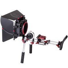 Kamerar soporte RIG + matte box + follow focus