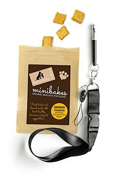 Dog Training Whistle with Organic Dog Trainer Treats, Cheddar Easy to Teach -- See this great product.