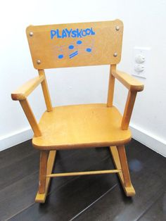 Rocking Chair by Playskool Vintage Childs by TimelessToyBox