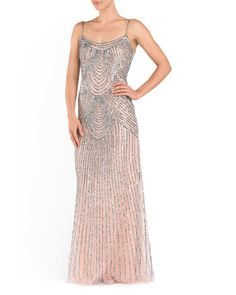 Long Sequined Occasion Dress