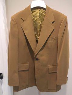 VTG Jack Nicklaus Golden Bear Sport Coat Blazer Gold Hart Schaffner & Marx 40R #HartSchaffnerMarx #TwoButton